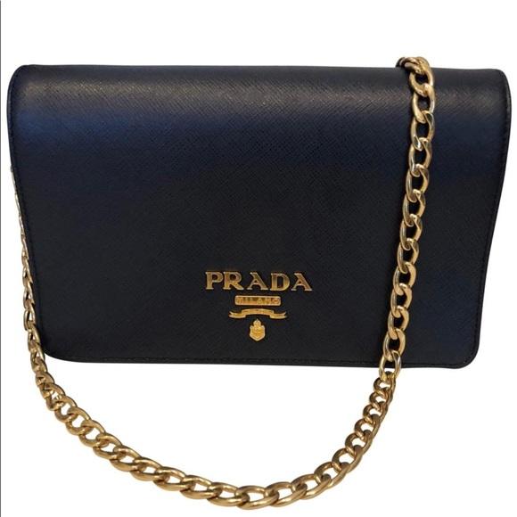 6fa1f6674907 Prada Navy Blue Saffiano Crsbdy Wallet on Chain. M_5b74e2c11299558e6f1d2083
